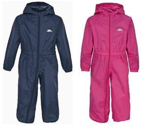 Trespass Kids Puddle Suits in Navy or Pink (was £29.99) Now £8.99 at Argos