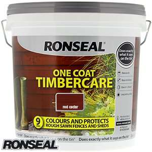Ronseal One Coat Timbercare 9L just £5.99 at Home Bargains (in store and online)