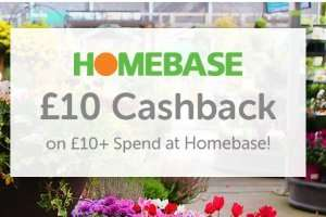 £10 Cashback At Homebase - Topcashback only for new members