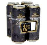4 x Big 500ml cans of Strongbow cloudy apple cider RRP £5.65p Only £1.99p instore @ Home Bargains !