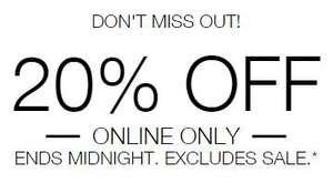 20% off on everything at m&s today (excludes sale) online only