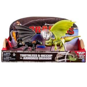 "How to Train You Dragon ""Hiccup and Toothless Vs Armoured Dragon"" Set £5.00 (add on item) @ Amazon"