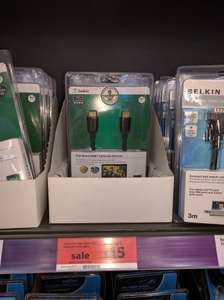 Belkin 5m High Speed HDMI Cable with Ethernet £12 - Sainsbury's Instore