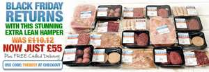 Black Friday Meat Hamper Half Price £55 + Free delivery @ MuscleFood