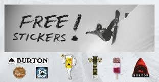 Free Burton Snowboard stickers