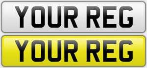 Number plates £30 (incl fitting) @ BMW Cooper York