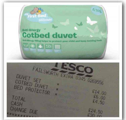 Silent Night cot bed duvet 4 tog £6 @ Tesco instore