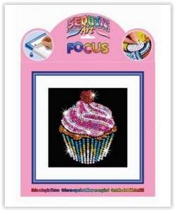 Free cupcake sequin art set with any purchase @ Crafty Arts