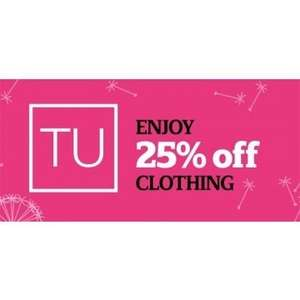Heads Up 25% off TU @ Sainsbury's  Next Date: 14th to 22nd February 2017