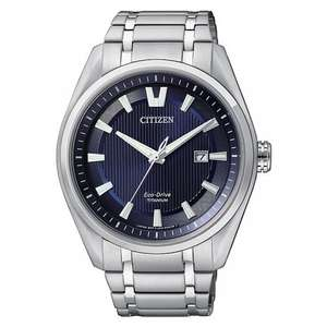 Citizen Eco-Drive Men's Titanium Watch w/ Sapphire Glass £99 @ Ernest Jones