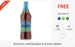 FREEBIE... Bulmers Wild Blueberry & Lime Cider (568ml) via Checkoutsmart App - £1.79 @ Tesco; £2 @ Morrisons / Asda...