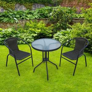 3 Piece Wicker Bistro Set at Poundstretcher for £29.99