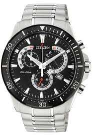 Citizen Mens' Eco Drive Black Dial Chronograph Watch [AT2358-51E] - £99 @ Argos