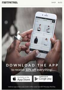 DOWNLOAD FOOTPATROL APP, GET 10% OFF ORDERS OVER £100!@ FOOTPATROL