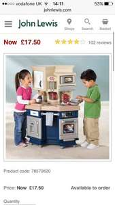 Little tikes super chef kitchen £17.50 + £3.50 delivery @ John Lewis - £20.75