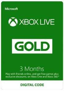 Amazon flash sale: Xbox Live - 3 months: £8.99