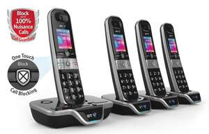 *Latest 2016* BT 8600 Advanced Call Blocker QUAD handset pack [4] - Lowest price yet - Deal £98.99 @ Amazon > Reduced further Now: