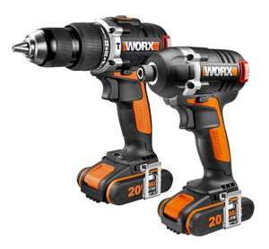 WORX WX918 20 V Lithium-Ion Brushless Motor Impact Driver and Hammer Drill Dispatched & Sold By Amazon 1-3 Months Delivery RRP £229.95 Now £137.99