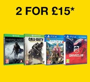 2 for £15 Pre-Owned Games (Xbox One & PS4) @ Game.co.uk (Full list in description)