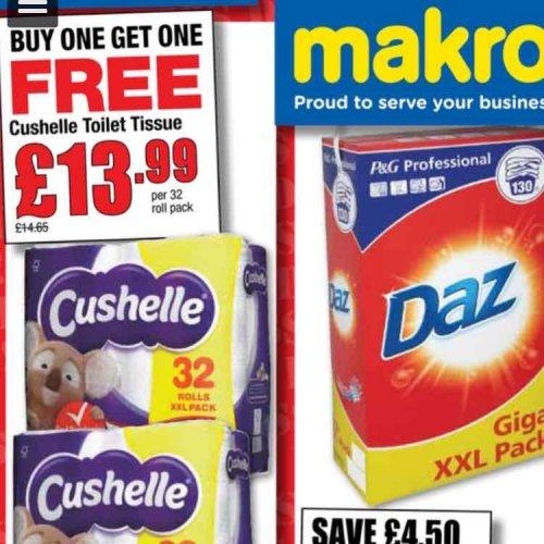 Cushelle Toilet paper - 64 rolls £16.78 at Makro