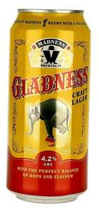 Madness -Gladness Craft Lager 440ml can 4.2% 69p @ B+M Bargains