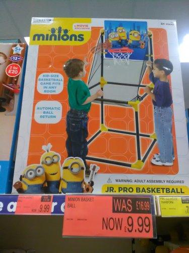 minions basketball set £9.99 @ B&M