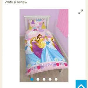Disney Princess Enchanting Rotary Single Bed Duvet Quilt Cover Set £3.50 @ Tesco