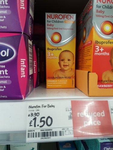 Nurofen for children £1.50 Asda
