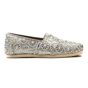 Toms classic silver fabric crochet style shoes (+ other styles) £24.99+VAT (£29.99) at Costco in store. (RRP £41.99)