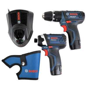 Bosch 10.8 V Professional Cordless Twin Kit (includes 2 x 2.0 Ah Lithium Ion Batteries) £134.89 @ Amazon