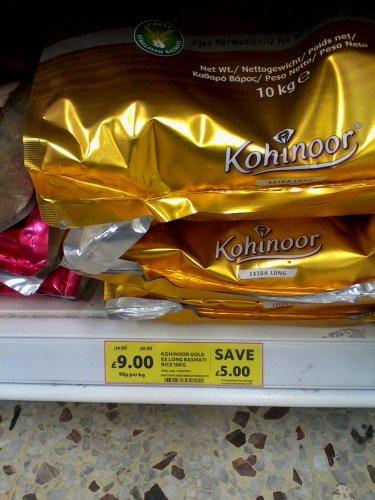 Kohinoor 10kg Basmati for  £9 quid @ Tesco in store