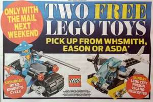 Free Lego Daily Mail 14th and 15th May 2016 @ WH Smith @ ASDA Sunday Only