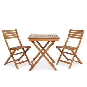 B&Q Angelina Wooden 2 Seater Bistro Table & Chairs £38