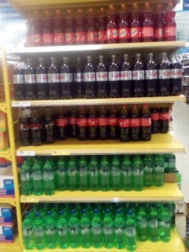 1.5l coke (diet/zero) fanta sprite 75p Tesco