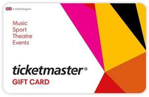 15% off Digital Gift Cards for TicketMaster, Zizzi, Ask Italian + 150 Clubcard Points per £50 gift card spend after discount + stack with other offers (See post) @ Tesco Gift Card store
