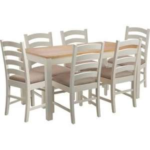 Haversham Pine Storage Dining Table and 6 Cream Chairs @ Argos £149.99 was£449.99