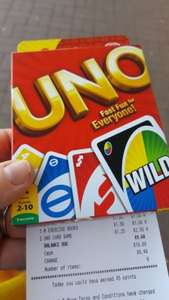 UNO card game scanning at £1.25 in Morrisons