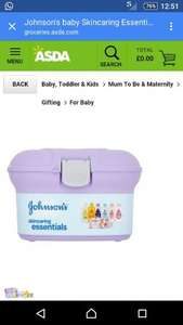 Johnson's Baby Skincare Essentials Box £12 @ Asda