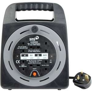 50m 13A 4-socket Mains Extension reel, £35.98 delivered @ toolstation.com