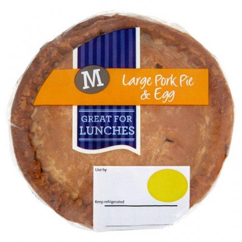 Morrisons Large Pork Pie & Egg or without egg Half Price £1