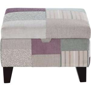Storage Footstool Light Feet- Patchwork was £219 now only £40 homebase