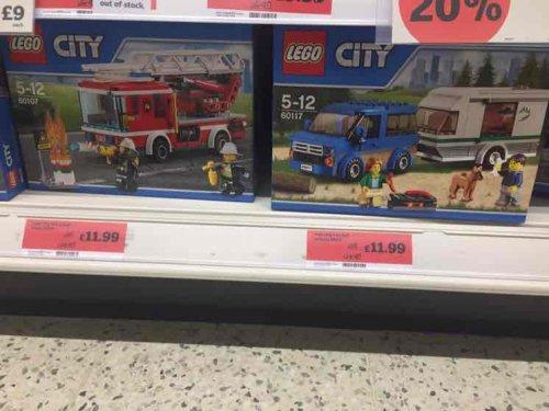 Lego City 60107 fire truck, 60117 car/caravan and 60084 racing bike transport - Sainsburys Faversham £11.99