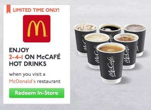 2 FOR 1 ON MCCAFÉ HOT DRINKS AT MCDONALD'S FOR STUDENTS - 2 HOT DRINKS @ £1.79 @ McDonalds
