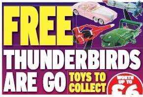Free Thunderbirds Toys with Daily Express (2 tokens per toy) - £1.10