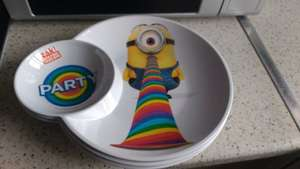 Minions plastic plates 59p in store Home Bargains