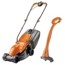 Flymo Corded 900W Lawnmower and 230W Mini Grass Trimmer  £59 at Tesco Direct free delivery + £10 off on £75spend