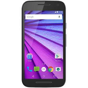 Moto G 3rd gen  sim free 1gb / 8gb Virgin PAYG UPGRADE ONLY £79.99 Carphone Warehouse. Black or white in stock