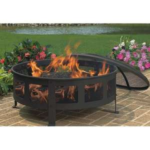 Bravo Mesh Wood Fire Pit was 149.99 now £27.99 + £4.99 delivery or over £40 free delivery @ Wayfair