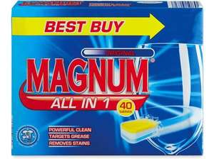 Aldi Magnum All in1 Complete Dishwasher Tablets Original (better than any branded ones according to Which?) - now £3.79 for 40