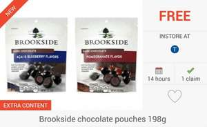 FREEBIE... Brookside Chocolate Pouches (198g) via the Checkoutsmart App - £2.50 @ Tesco Only...